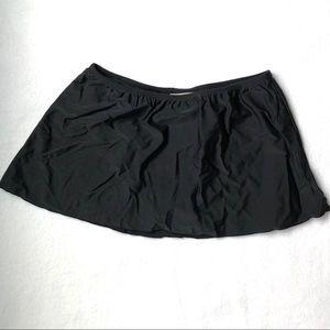 NWOT Black Skirted Swim Bottom Skort